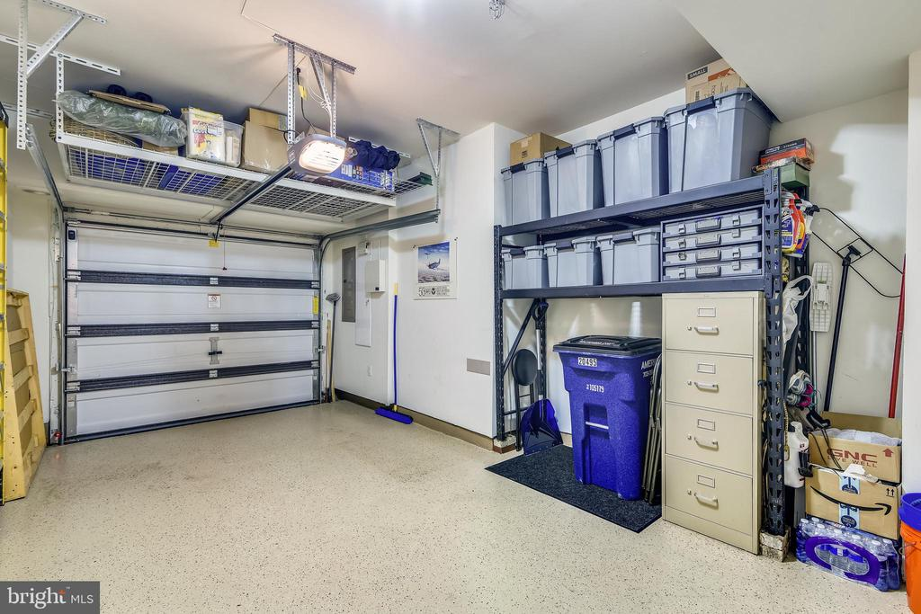 Garage with Overhead Storage and Bonus Space - 20495 MILBRIDGE TER, ASHBURN