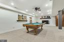 Basement Rec Room Pool Table - 8511 CATHEDRAL FOREST DR, FAIRFAX STATION