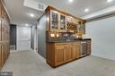 Basement Rec Room Wet Bar - 8511 CATHEDRAL FOREST DR, FAIRFAX STATION