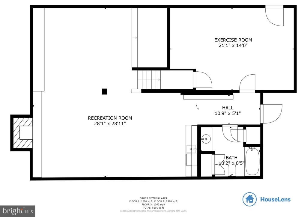 Basement Floor Plan - 8511 CATHEDRAL FOREST DR, FAIRFAX STATION