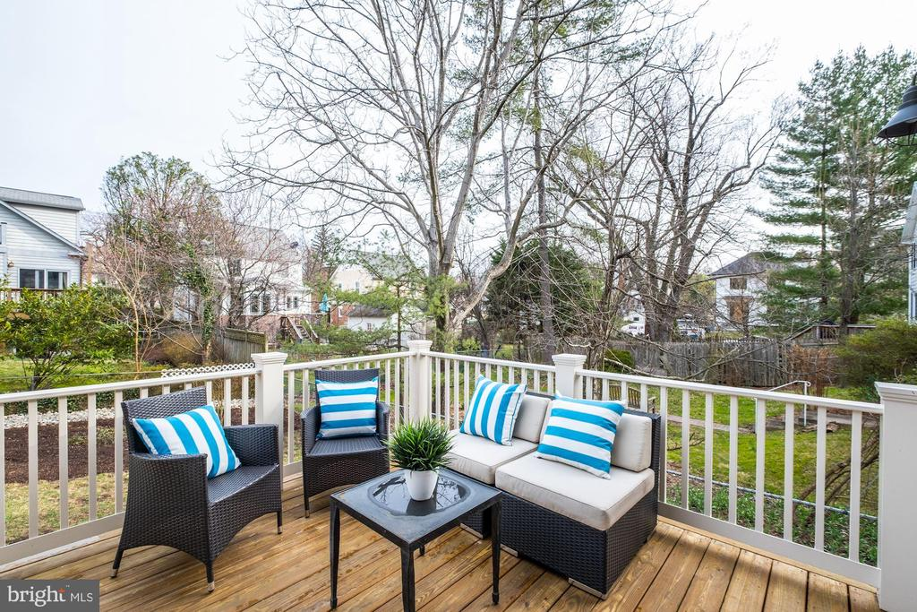 Deck view 1 - 4405 RIDGE ST, CHEVY CHASE