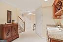Large finished basement with a wet bar - 10104 FARR OAK PL, FAIRFAX