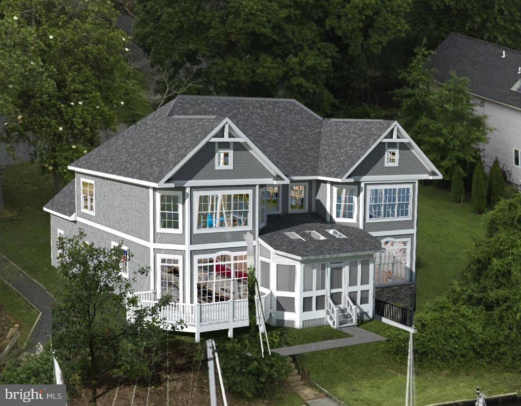 Rendering of what can be built - 1643 ORCHARD BEACH RD, ANNAPOLIS