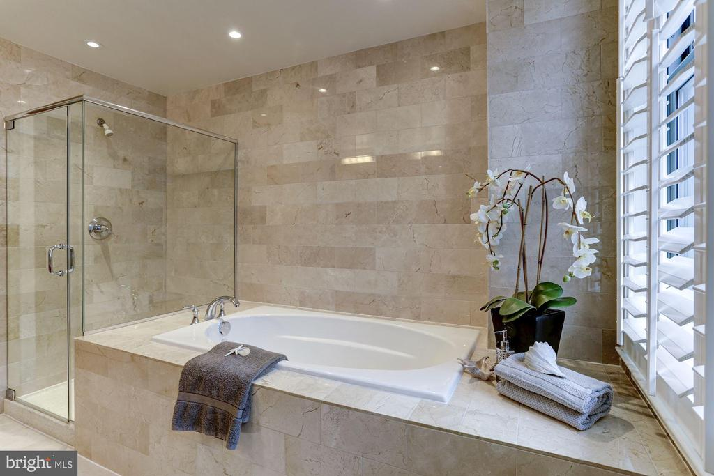 Spa like soaking tub and glass shower - 2425 L ST NW #203, WASHINGTON