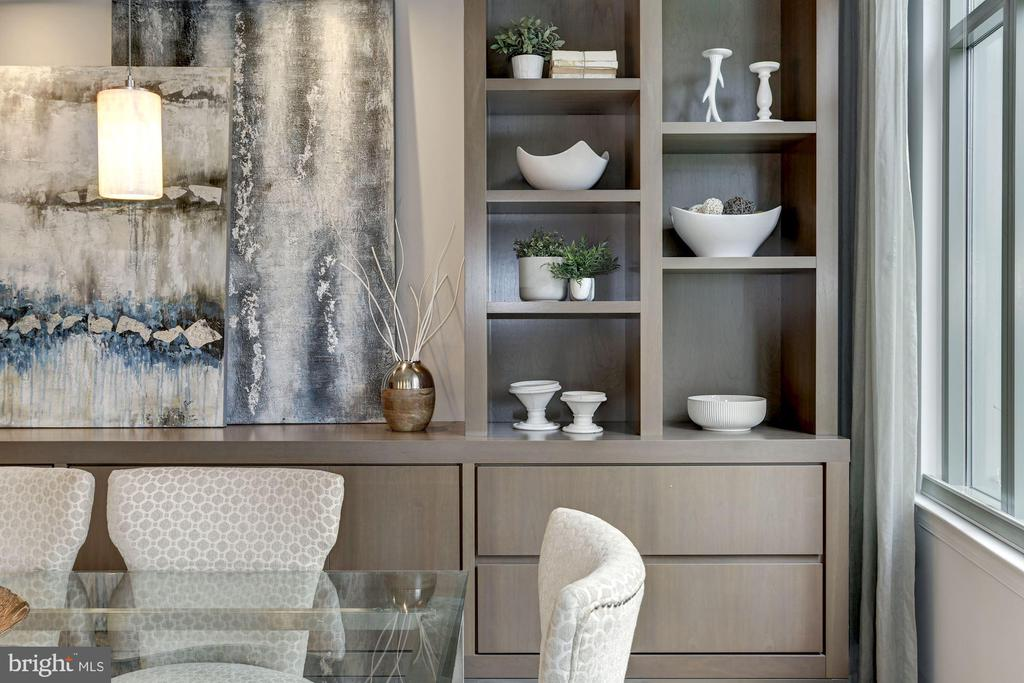 Gorgeous and modern built in shelves - 2425 L ST NW #203, WASHINGTON