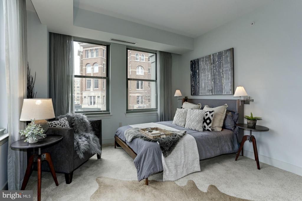 Bedroom two offers custom built in bed sconces - 2425 L ST NW #203, WASHINGTON