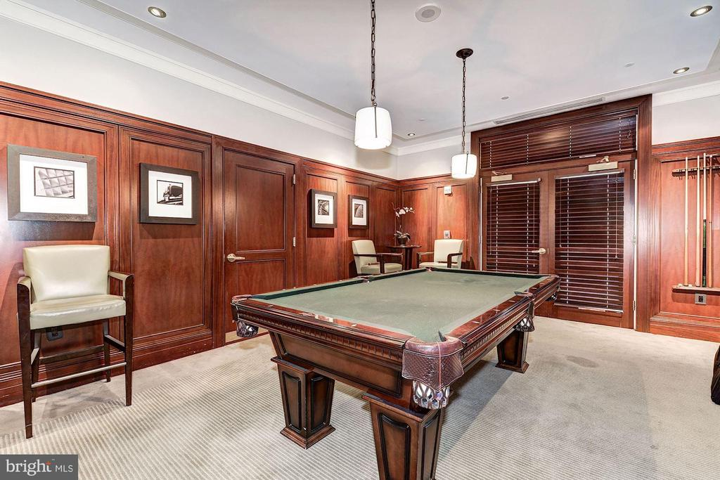Billiard room, party rooms & guest suite offering - 2425 L ST NW #203, WASHINGTON