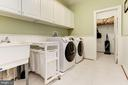 Separate large laundry on first floor - 14943 FINEGAN FARM DR, DARNESTOWN