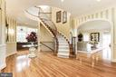 Entrance foyer with view into family + living room - 14943 FINEGAN FARM DR, DARNESTOWN