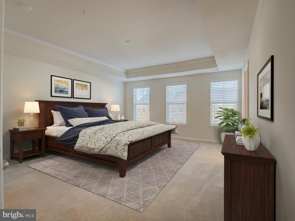 Staged Master Bedroom - 43370 TOWN GATE SQ, CHANTILLY