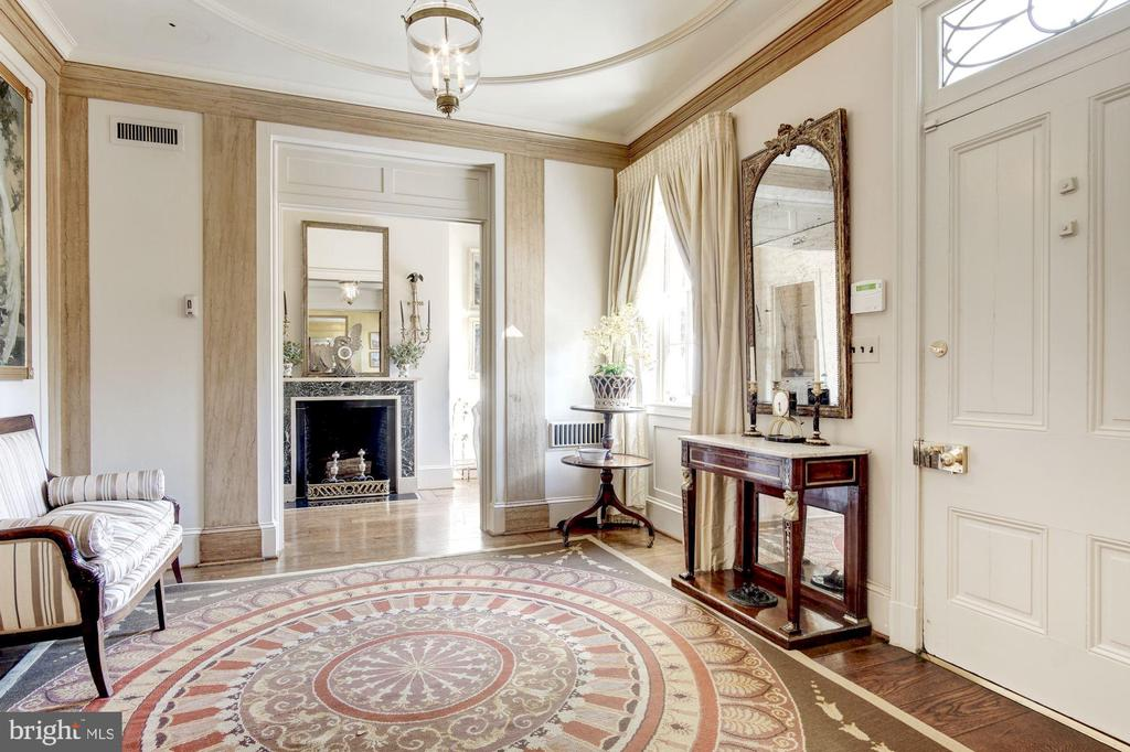 Front Entry Foyer with Fireplace - 1224 30TH ST NW, WASHINGTON