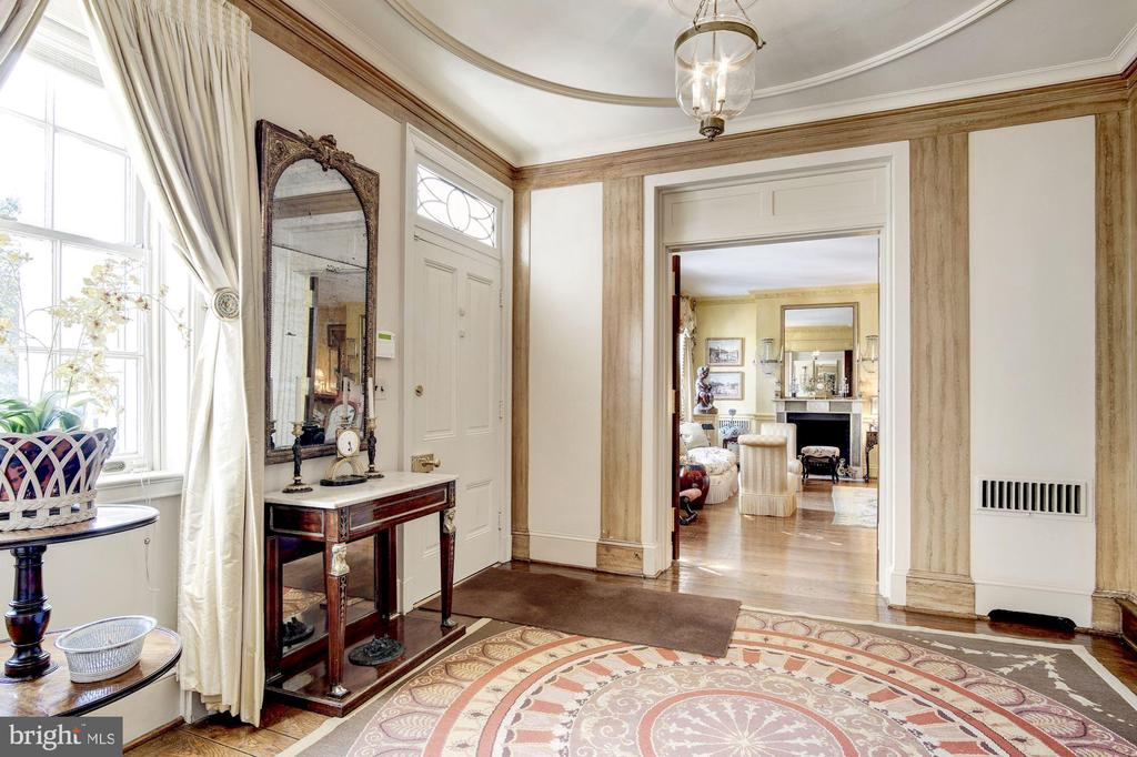 Foyer with Archway to Living Room - 1224 30TH ST NW, WASHINGTON