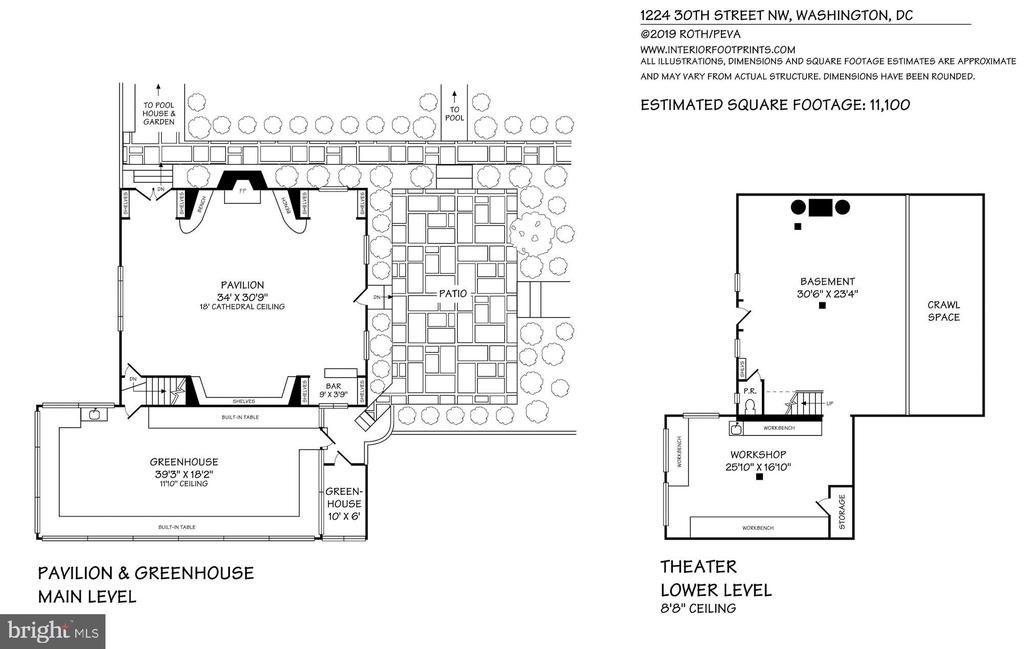 Theatre/Pavilion/Playhouse Floor Plan - 1224 30TH ST NW, WASHINGTON