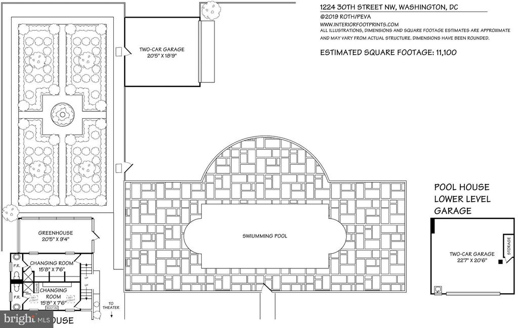 Pool and Changing Rooms Floor Plan - 1224 30TH ST NW, WASHINGTON