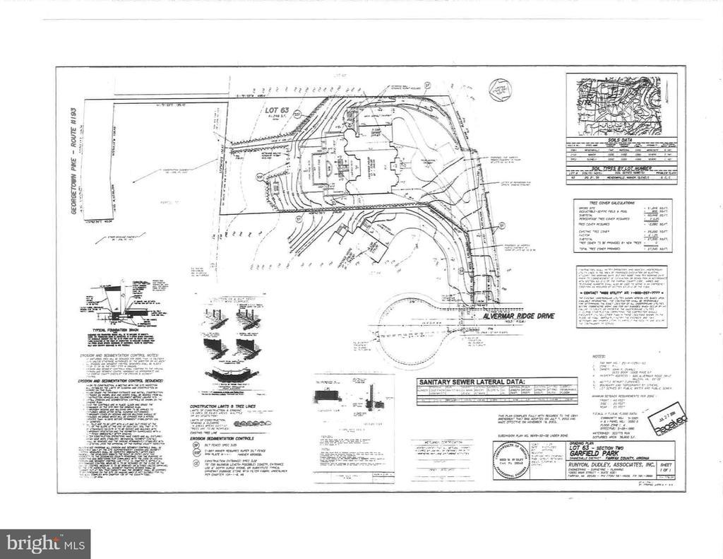 Site Plan - 896 ALVERMAR RIDGE DR, MCLEAN