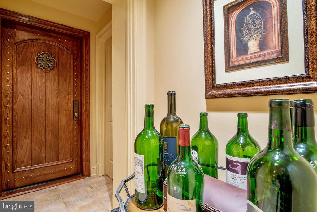 Lockable Wine Cellar Door and Tasting Vestibule - 896 ALVERMAR RIDGE DR, MCLEAN