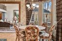 Breakfast Rm & Family Dining Overlooking Veranda - 896 ALVERMAR RIDGE DR, MCLEAN