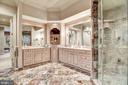 Luxury Master Bath w/Center Tower & Sep. Vanities - 896 ALVERMAR RIDGE DR, MCLEAN