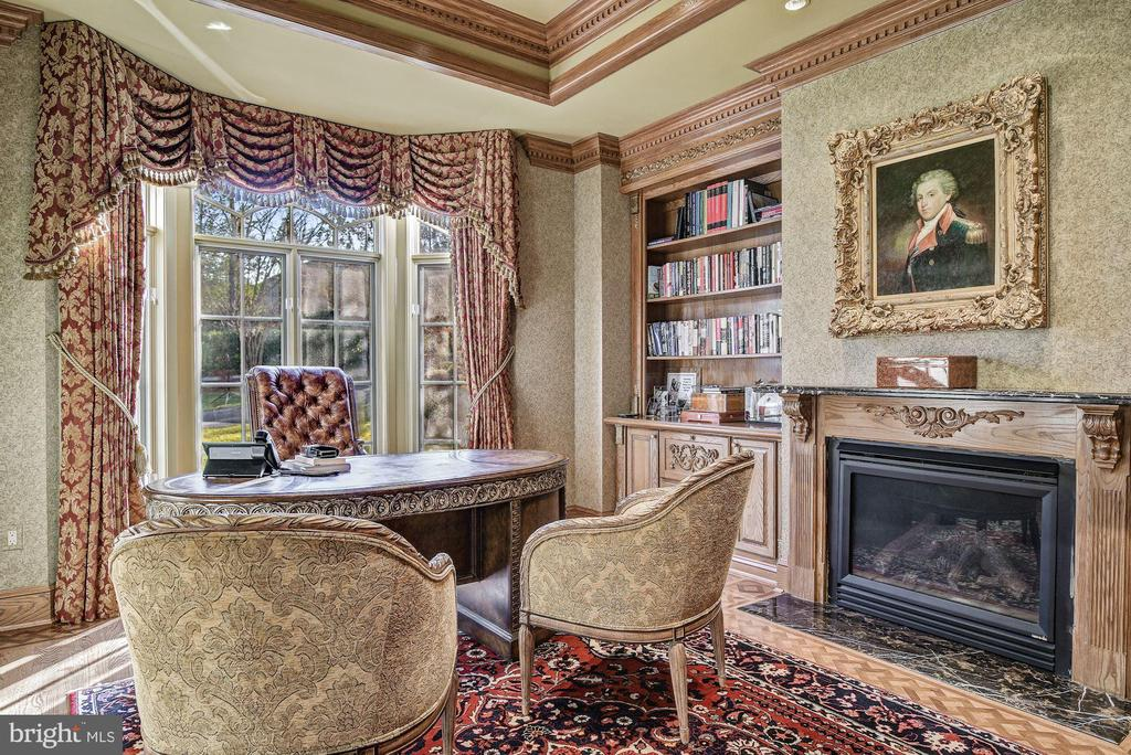 Library, Gas Fireplace and  Built-ins - 896 ALVERMAR RIDGE DR, MCLEAN