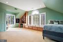 En-suite Bedroom 6 with Built-in Desk - 896 ALVERMAR RIDGE DR, MCLEAN