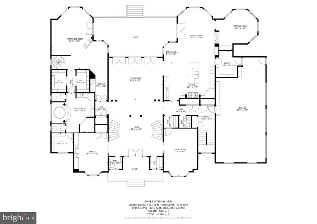 Main Level Floorplan - 896 ALVERMAR RIDGE DR, MCLEAN