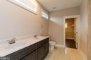 Master bath w double vanities - 6720 ACCIPITER DR, NEW MARKET
