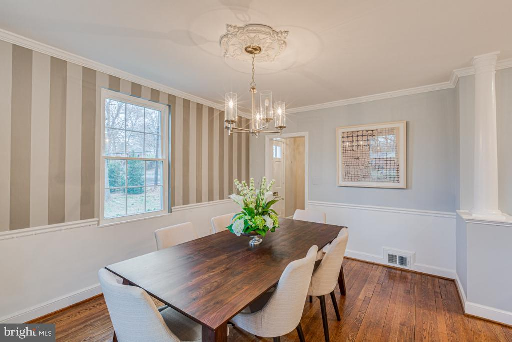Gorgeous Dining Room off kitchen - 9701 CONNECTICUT AVE, KENSINGTON