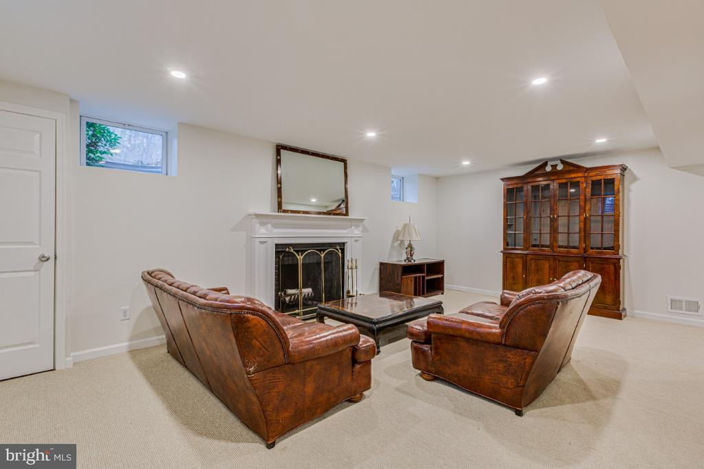 finished basement with fireplace - 9701 CONNECTICUT AVE, KENSINGTON
