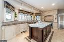 Massive center Island with Marble countertop. - 10810 PERRIN CIR, SPOTSYLVANIA