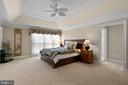 Master Bedroom sized to make King bed look small - 6271 KINGFISHER LN, ALEXANDRIA