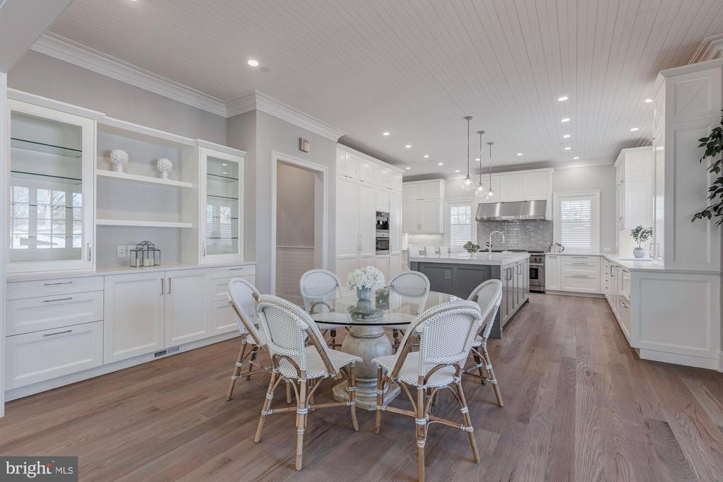 Large informal dining/breakfast room - 4909 FALSTONE AVE, CHEVY CHASE