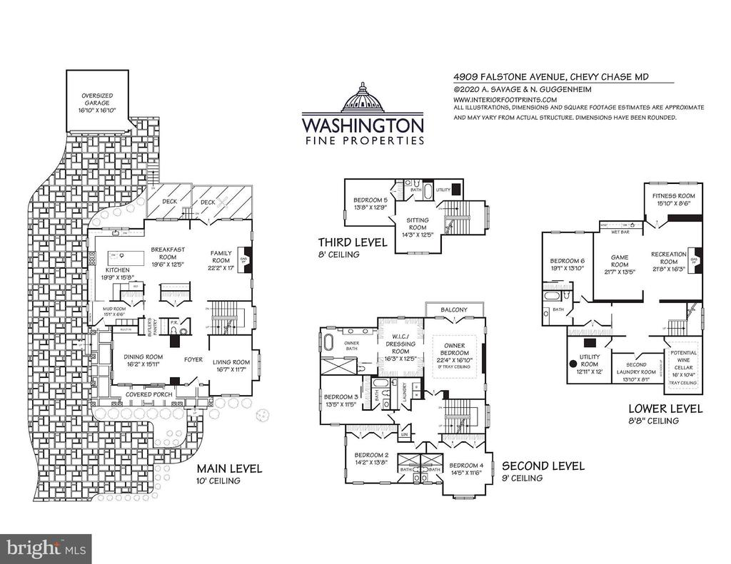 Floor Plans - 4909 FALSTONE AVE, CHEVY CHASE