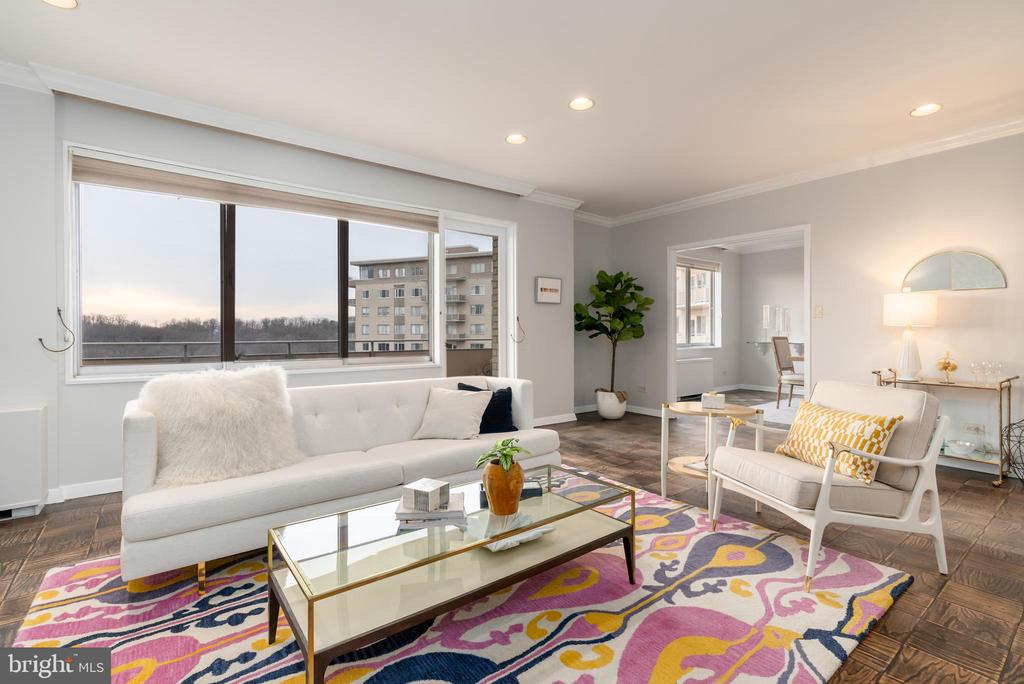 Recessed lighting compliments natural light - 2801 NEW MEXICO AVE NW #1122, WASHINGTON