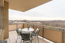 Patio features expansive, unobstructed views - 2801 NEW MEXICO AVE NW #1122, WASHINGTON