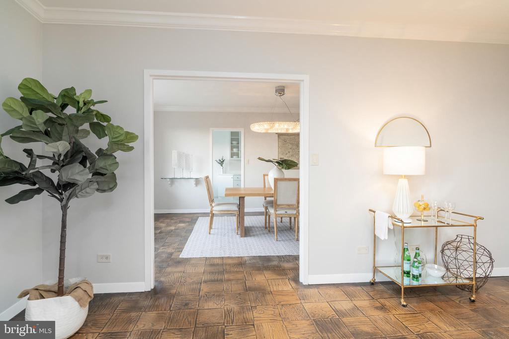 Archway to formal dining room - 2801 NEW MEXICO AVE NW #1122, WASHINGTON