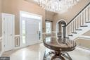 Welcoming Grand Foyer with Marble Floors! - 10810 PERRIN CIR, SPOTSYLVANIA