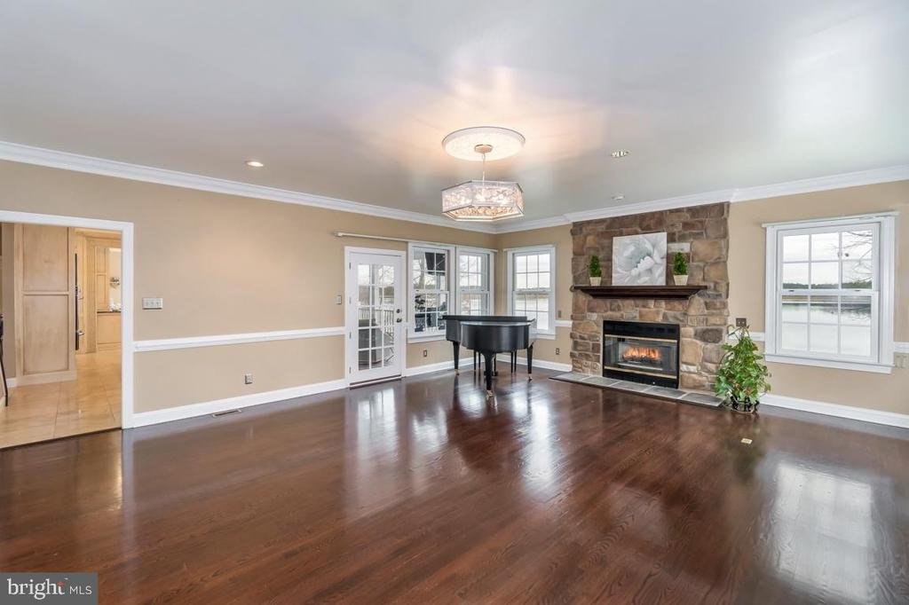 Gorgeous Family Room with Stone Fireplace - 10810 PERRIN CIR, SPOTSYLVANIA