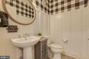 Half Bathroom with Custom Moldings - 23290 MILLTOWN KNOLL SQ #106, ASHBURN