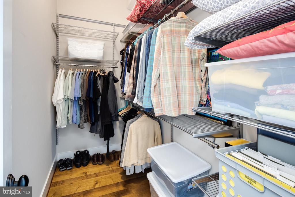 Spacious Walk-In Closet w/ Custom Shelving - 3566 13TH ST NW #5, WASHINGTON