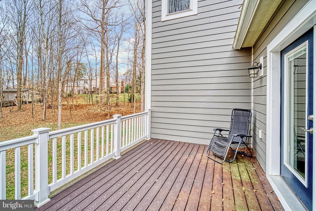 Rear porch off guest room - 11252 RAMROD RD, WOODBRIDGE