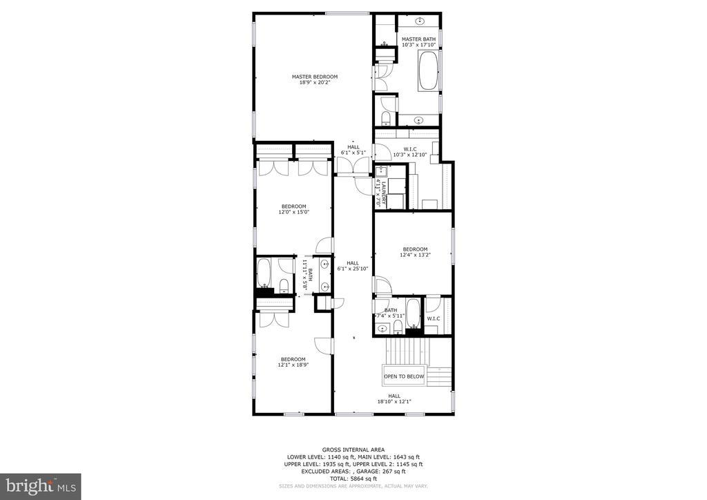 Upper Level I Floorplan - 7612 EXETER RD, BETHESDA