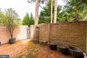 Fully Fenced in Patio - 10927 WICKSHIRE WAY #K-3, ROCKVILLE