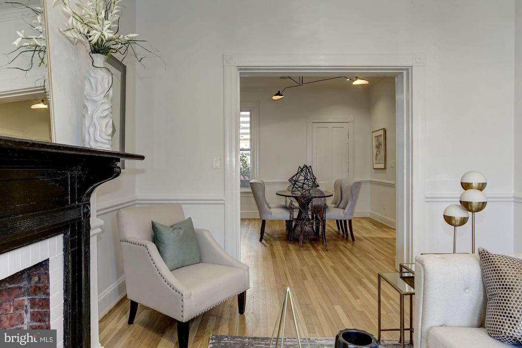 Graceful flow into Dining Room - 1332 RIGGS ST NW, WASHINGTON