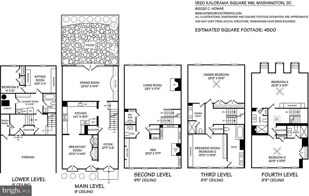 Floor Plans - 1820 KALORAMA SQ NW #25, WASHINGTON