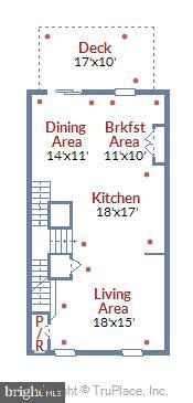 Main level floor plan - 19709 VAUGHN LANDING DR, GERMANTOWN