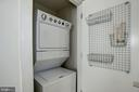 Stack washer/dryer in the unit - 1634 14TH ST NW #404, WASHINGTON