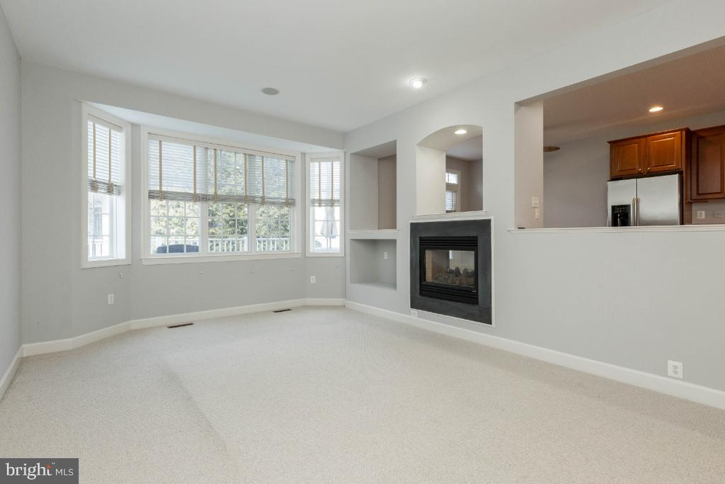Family room with built-in TV area - 43476 CASTLE HARBOUR TER, LEESBURG