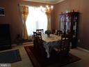 Dining room w/ good wall spaces for furnishings - 12509 HAWKS NEST LN, GERMANTOWN