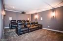 Tiered Media Room w/ Ambient Lighting in Seating - 1867 BEULAH RD, VIENNA