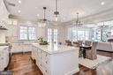 Marble Countertops & Backslash Throughout Kitchen - 1867 BEULAH RD, VIENNA